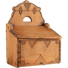 Antique Northern Swedish Decorated Folk Art Box