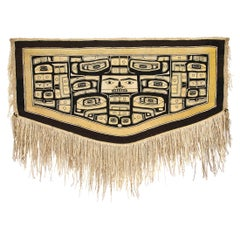 Antique Northwest Coast Chilkat Blanket, Tlingit 'Native American', circa 1880