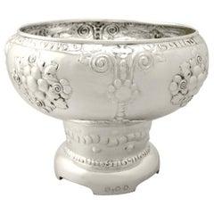Antique Norwegian Silver Presentation Bowl