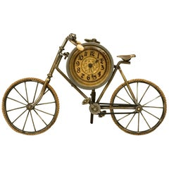 Antique Novelty Bicycle Mantle Clock, Ordinary Bicycle