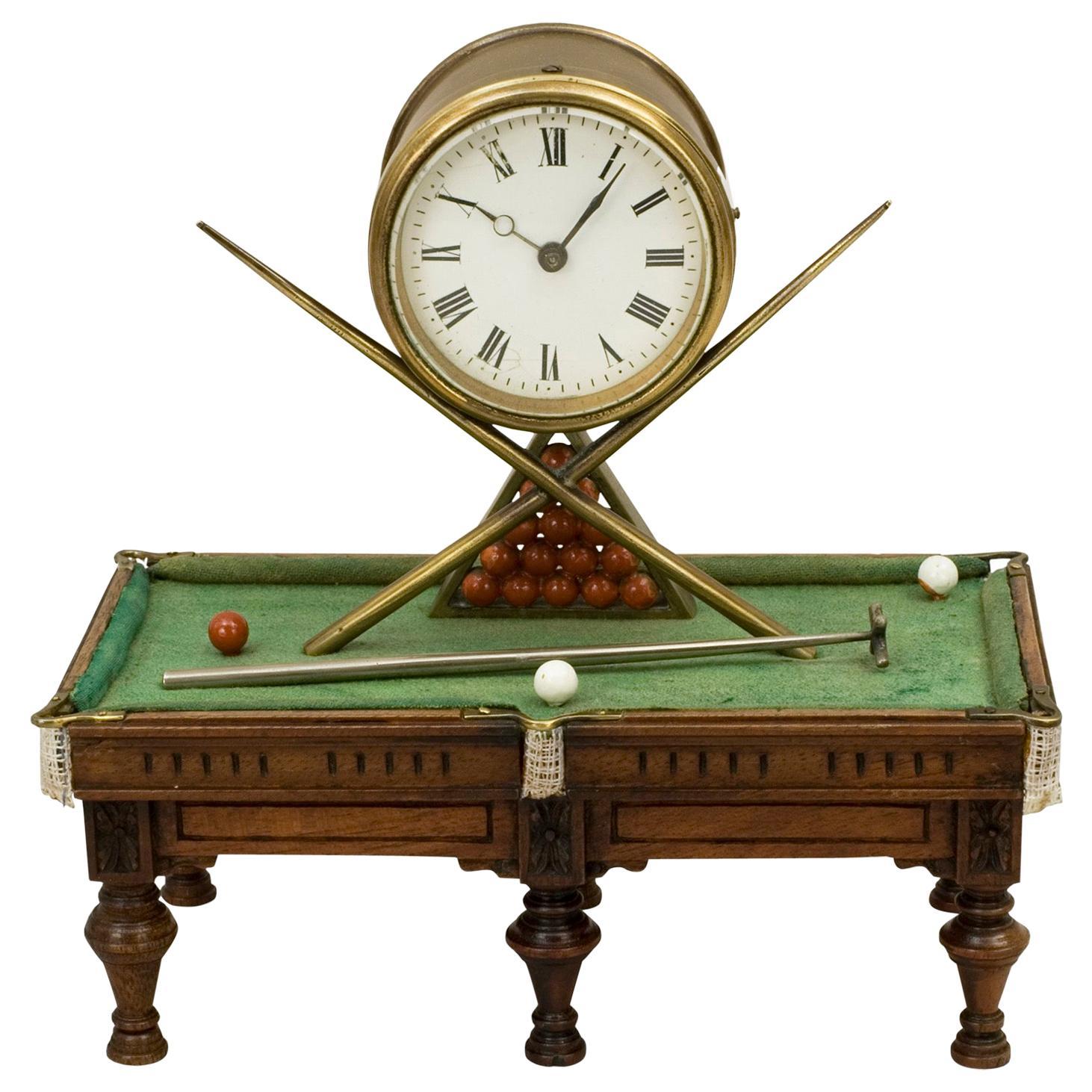 Antique Novelty Billiard Clock