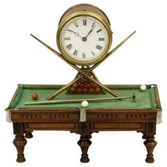 Antique Novelty Billiard Clock