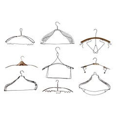 Antique Novelty Wire Clothing Hanger Collection '9'