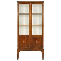 Antique Oak 2 Door Bookcase, Display Cabinet, Scotland 1920, B2338