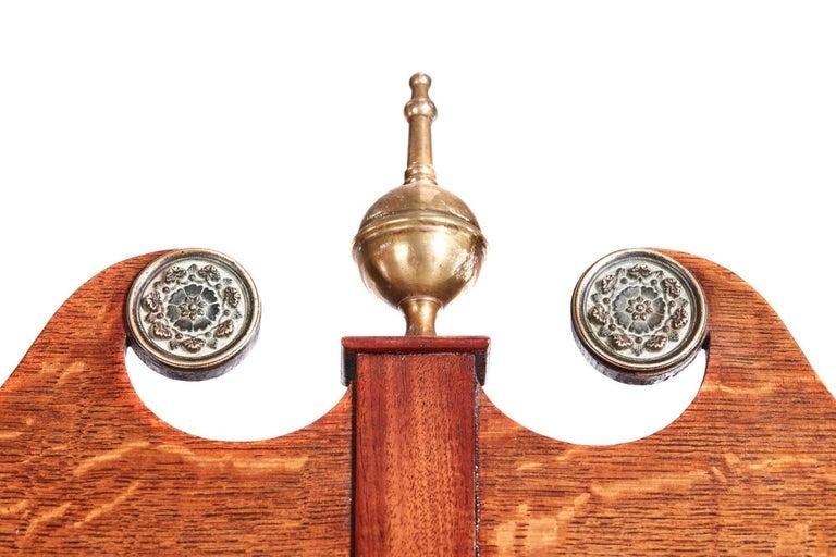 European Antique Oak 8 Day Longcase Clock For Sale