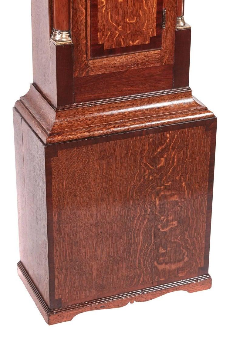 Antique Oak 8 Day Longcase Clock For Sale 1