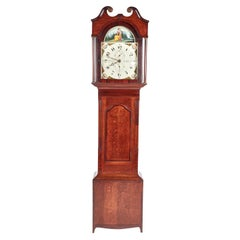 Antique Oak and Mahogany Grandfather Clock by W Prior Skipton