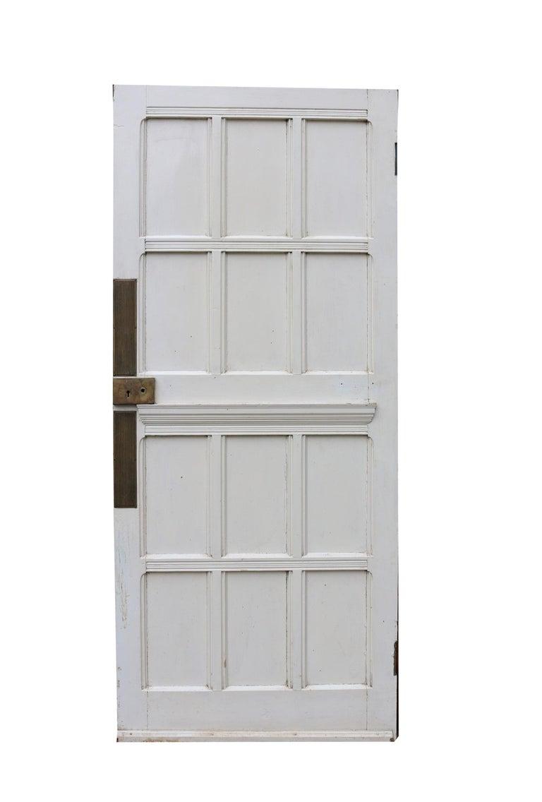 Victorian Antique Oak and Pine Interior Door For Sale