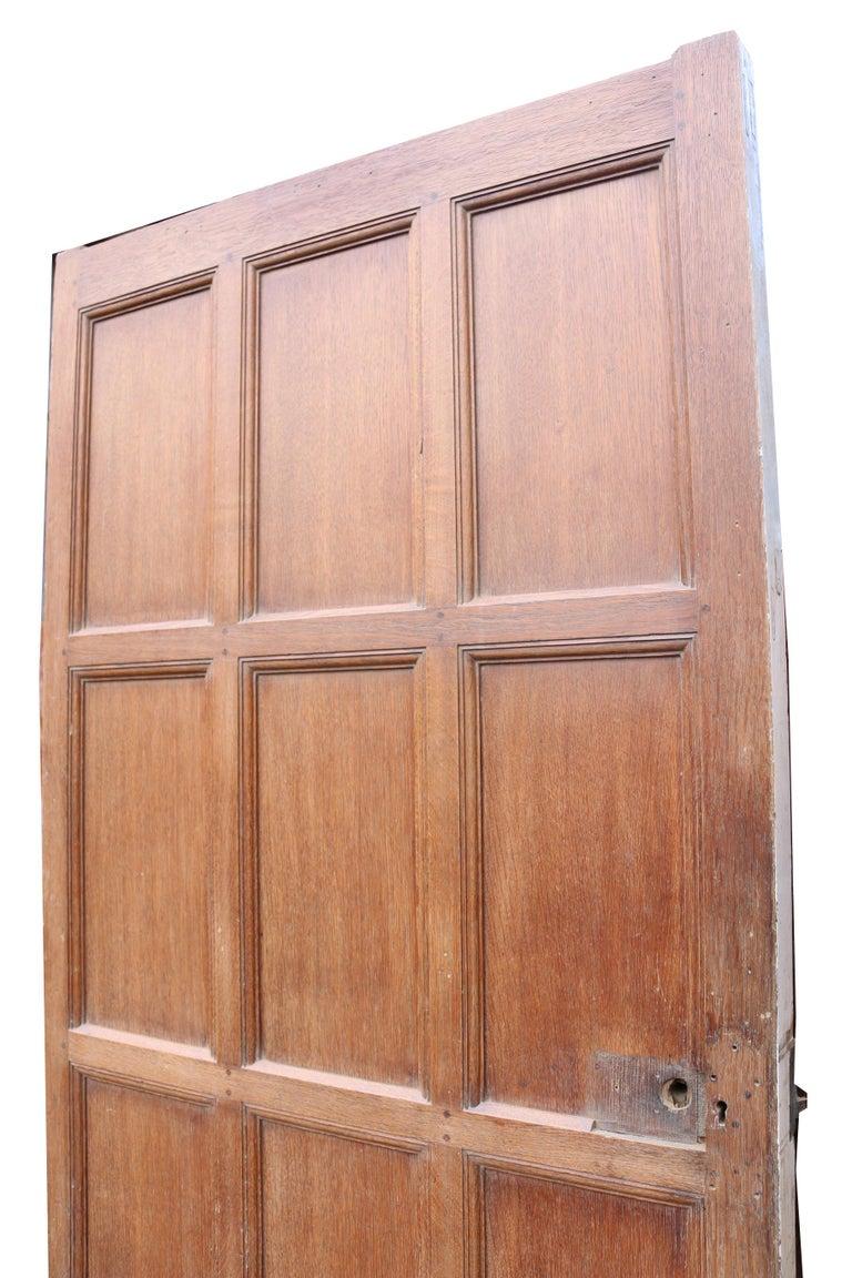 English Antique Oak and Pine Interior Door For Sale