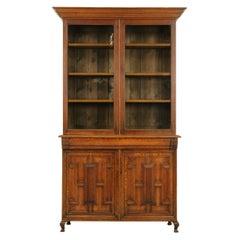 "Antique Oak Bookcase, ""Arts & Crafts"" Bookcase, Oak Bookcase, 1900"