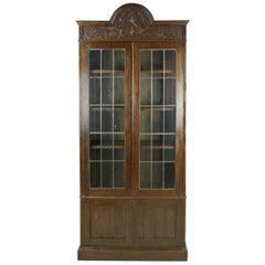 Antique Oak Bookcase, Arts & Crafts Bookcase, Scotland 1910, Antique Furniture
