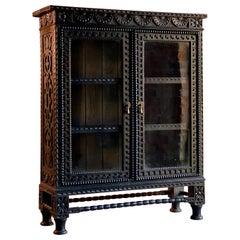 Antique Oak Bookcase Baroque Victorian 19th Century circa 1890 No. 4