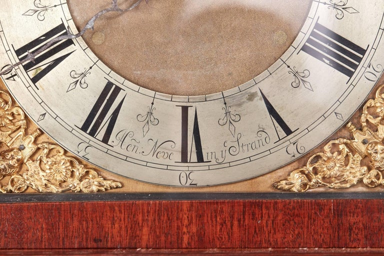 Antique Oak Brass Face 8 Day Grandfather Clock For Sale 2