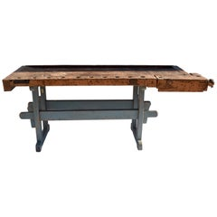 Antique Oak Carpenters and Joiners Workbench