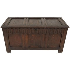 Antique Oak Coffer, Georgian Kist Trunk, Antique Furniture, Scotland 1780, B1842