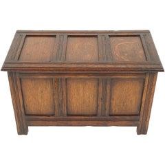 Antique Oak Coffer, Kist, or Trunk, Antique Furnituire, Scotland, 1910, B1944