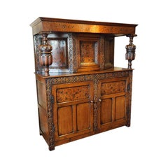 Antique Oak Court Cupboard