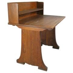 Antique Oak Desk from Harvard Divinity School