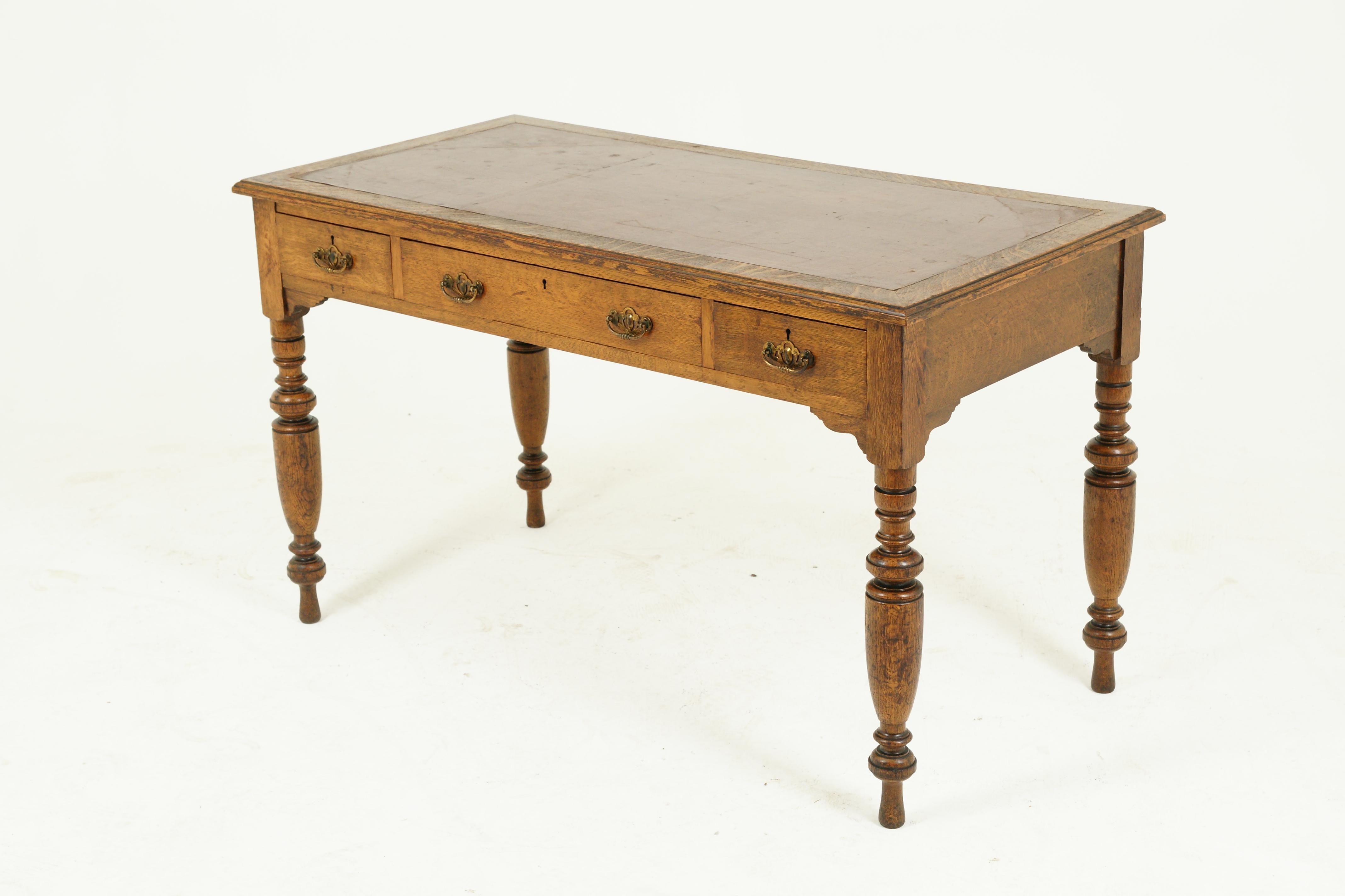 Antique Oak Desk Writing Table Victorian Desk Tiger Oak