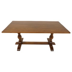 Antique Oak Dining Table, Refectory Farmhouse Dining Table, Scotland 1930, B2269