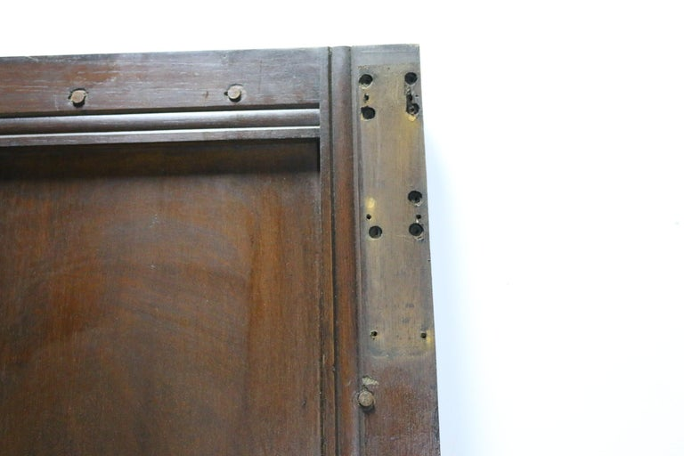 In good structural condition for age. Late 19th-early 20th century. One side is rebated. Wax finish.   Measures: Height 211 cm  Width 97.5 cm  Depth 4.3 cm  Weight 40 kg.