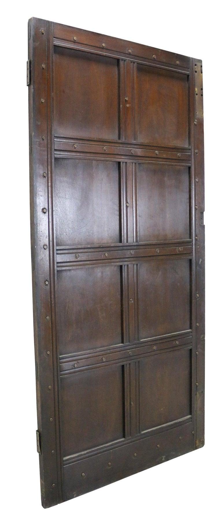English Antique Oak Exterior Door For Sale