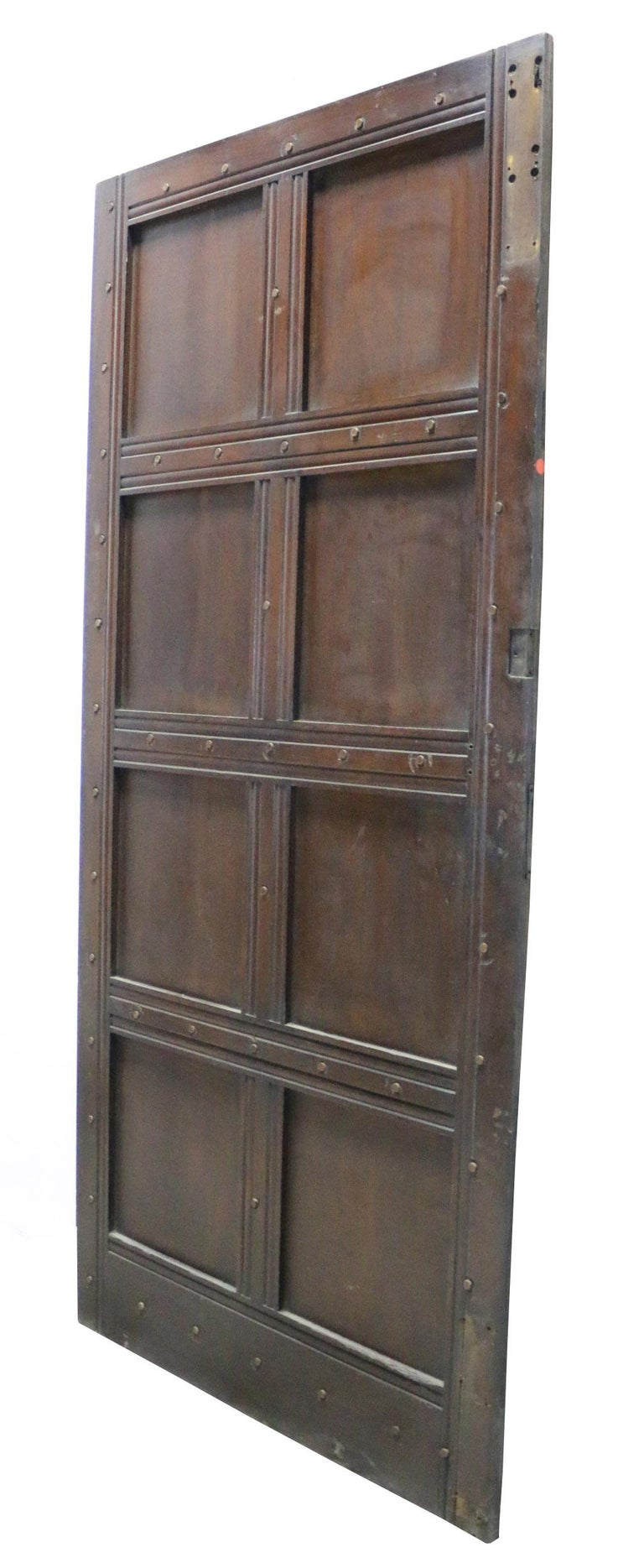 Antique Oak Exterior Door In Fair Condition For Sale In Wormelow, Herefordshire