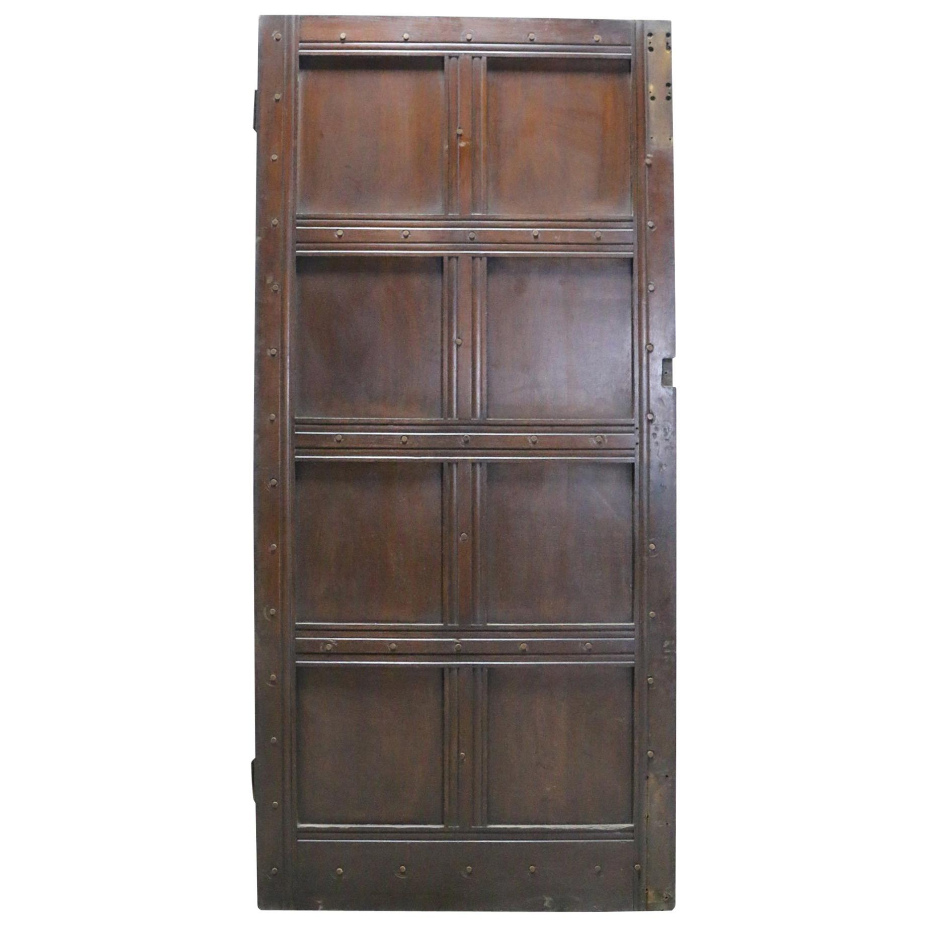 Antique Oak Exterior Door