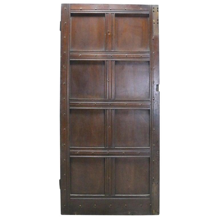 Antique Oak Exterior Door For Sale