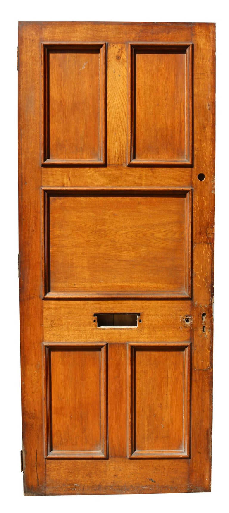 Georgian Antique Oak Exterior or Front Door For Sale