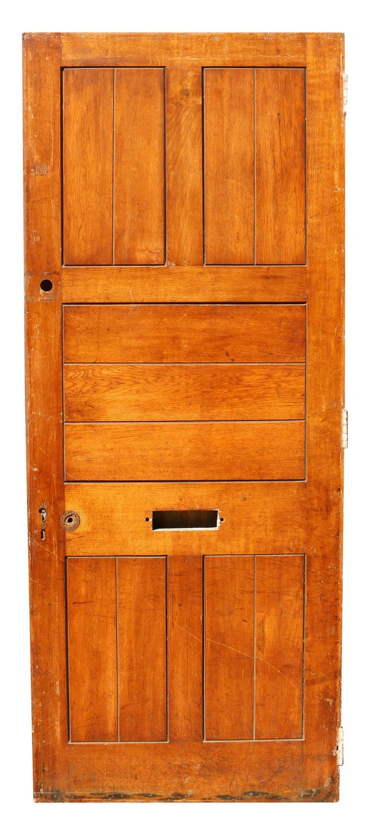English Antique Oak Exterior or Front Door For Sale