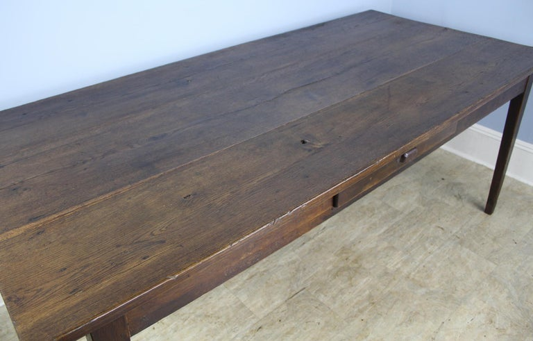 Antique Oak Farm Table In Good Condition In Port Chester, NY