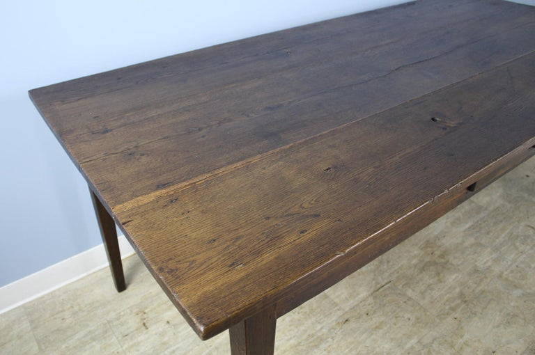19th Century Antique Oak Farm Table