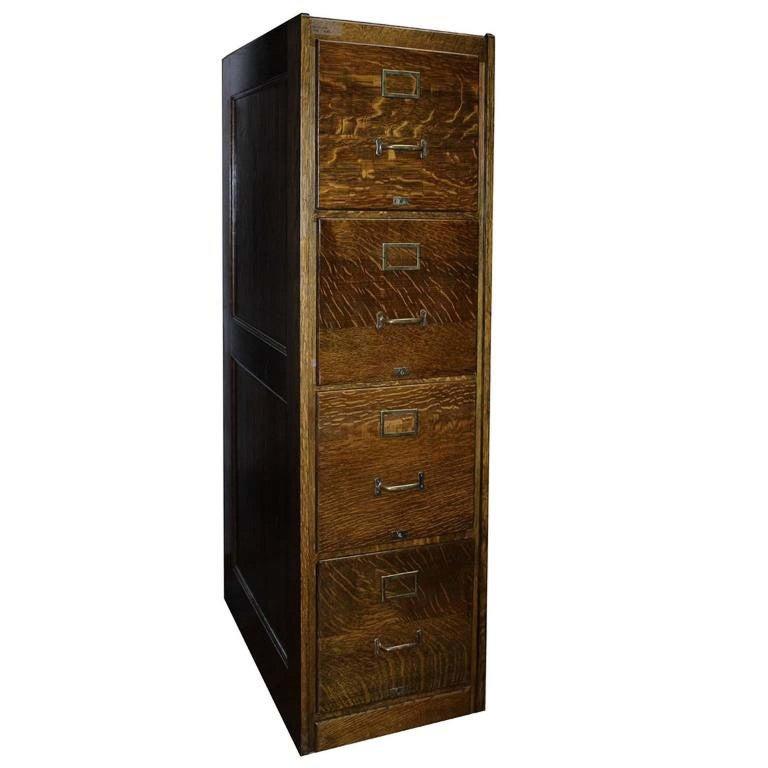 Oak Kitchen Cabinets For Sale: Antique Oak File Cabinet For Sale At 1stdibs