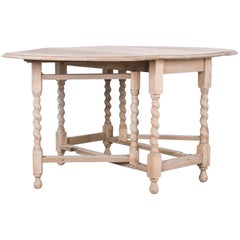 Antique Oak Gate Leg Table