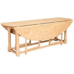 Antique Oak Gateleg Wake Table from England