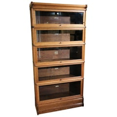 Antique Oak Globe Wernicke Bookcase
