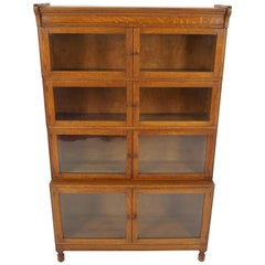 """Antique Oak Lawyer Bookcase, Sectional Bookcase """"By Minty"""", England 1920, B2224"""