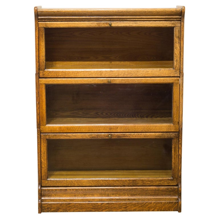 Antique Oak Lawyer's Cabinet c.1920-1940 For Sale