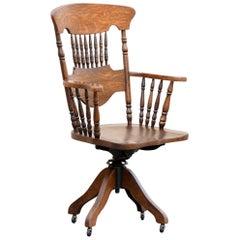 Antique Oak Lawyer's Chair
