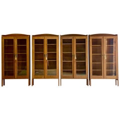 Antique Oak Library Bookcases Set of Four German Aesthetic Movement, circa 1920