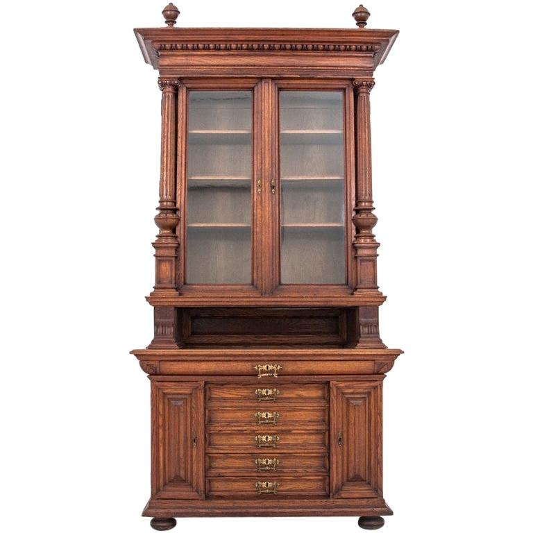 Antique Oak Library from circa 1900