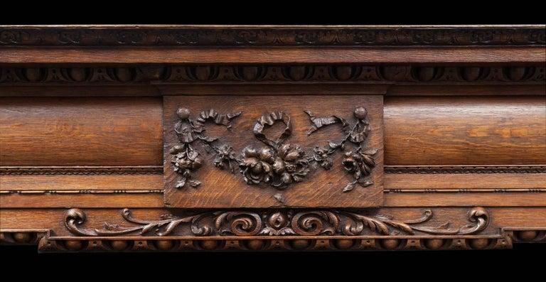 Palladian Antique Oak Mantelpiece For Sale