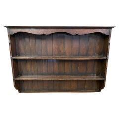 Antique Oak Plate Rack
