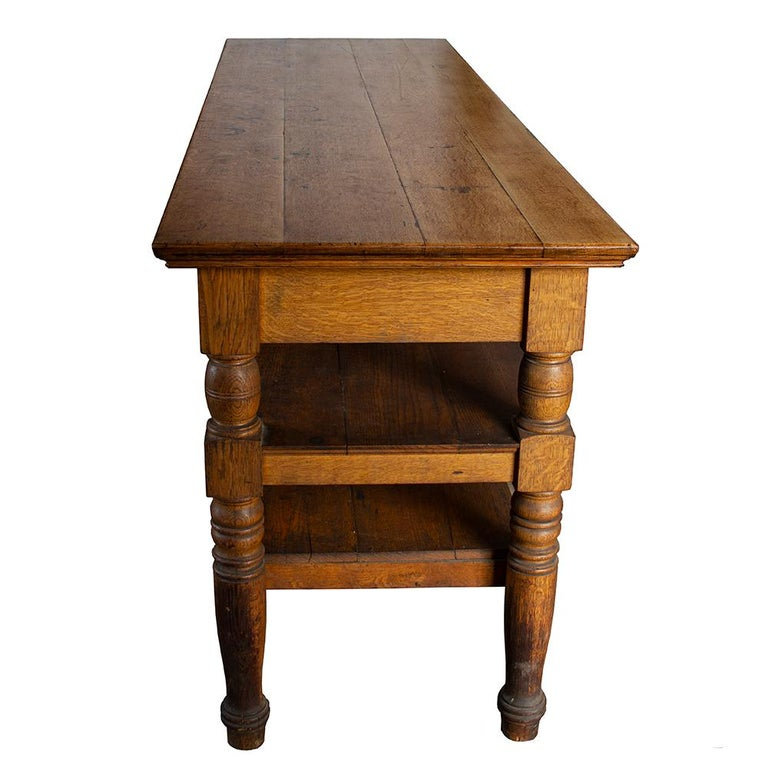 Antique Oak Retail Display Counter In Good Condition In Aurora, OR
