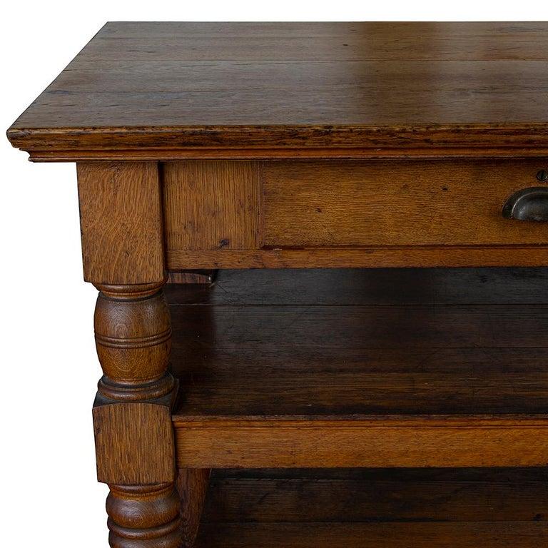 20th Century Antique Oak Retail Display Counter