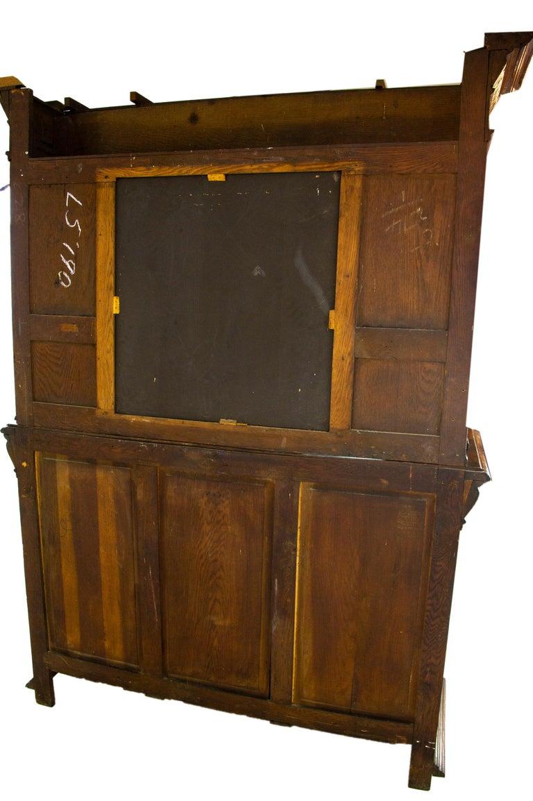 Antique Oak Sideboard, Carved Oak Sideboard, Anglo-Flemish, Scotland 1880, B1498 For Sale 8