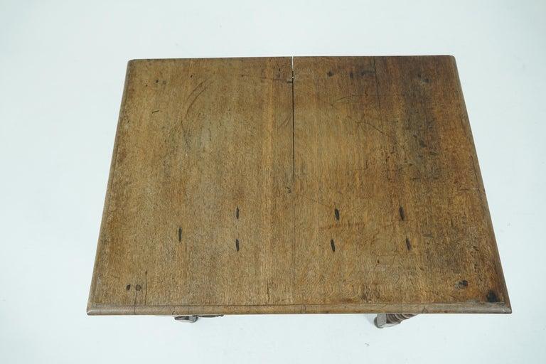 Antique Oak Table, 18th Century Georgian Desk or Hall Table, Scotland, B1683 For Sale 5