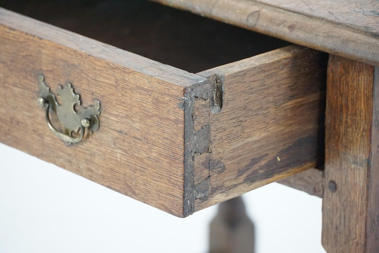Hand-Crafted Antique Oak Table, 18th Century Georgian Desk or Hall Table, Scotland, B1683 For Sale