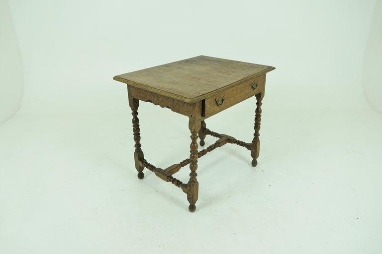 Antique Oak Table, 18th Century Georgian Desk or Hall Table, Scotland, B1683 For Sale 2